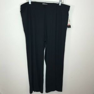 Catherines Travel Black Stretch Pull On Pants 1X